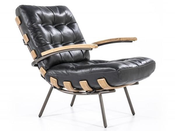 Ledersessel schwarz Bastiaan Leder Sessel Loungesessel