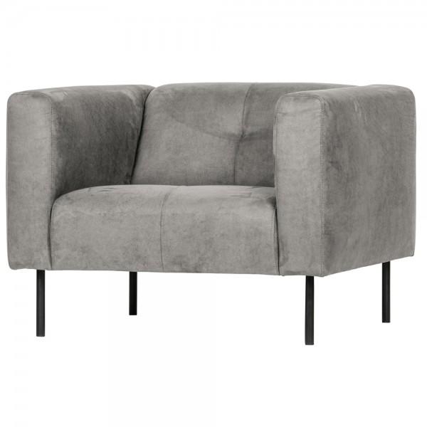 vtwonen Lounge Chair Sessel Skin Wildleder hellgrau Relaxsessel