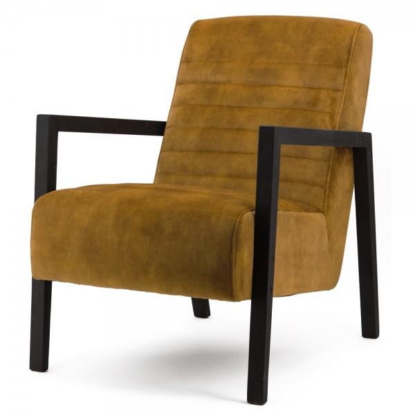 Armlehnsessel LARS Bezug Adore ocker Samt Relaxsessel Fernsehsessel Lounge Sessel