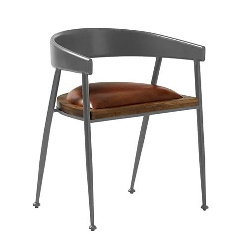 Design Leder Stuhl SYDNEY Essziimmerstuhl Konferenzstuhl Vintage Look patina rose braun