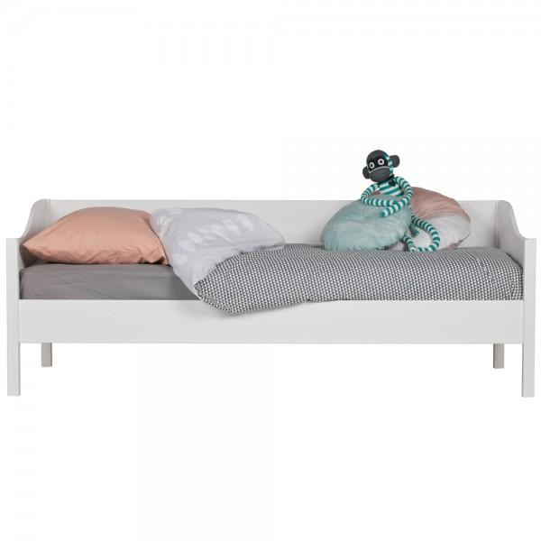 Sofabett Eliza Kiefer weiß Kinderbett Jugendbett Bettkasten Bett Sofa Tagesbett
