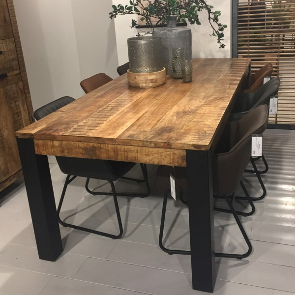 industrial esstisch akazie massiv holztisch dinnertisch tisch esszimmertisch new maison. Black Bedroom Furniture Sets. Home Design Ideas