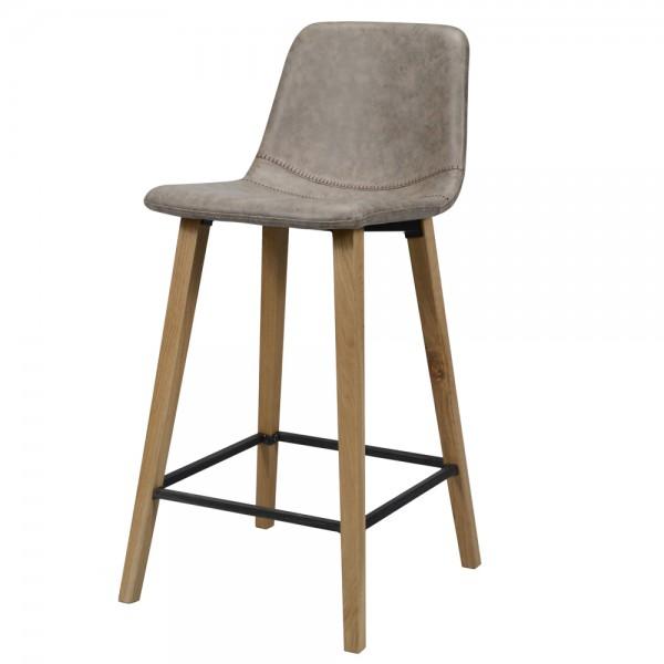 Barstuhl VINTAGE Barhocker Kunstleder dunkelbraun Sitzhocker Stuhl