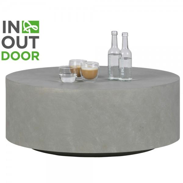 Couchtisch DEAN Ø 80 cm Tonfaser grau Beistelltisch Sofatisch Tisch
