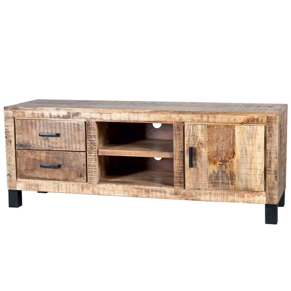 vintage landhaus tv m bel 2 schubladen lowboard tv rack. Black Bedroom Furniture Sets. Home Design Ideas