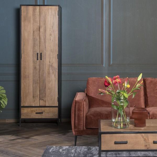 Schrank Wohnzimmerschrank Sturdy 2 Türen Mango Holz