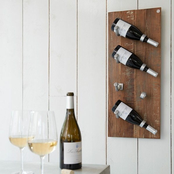 Weinregal Merlot 4 Flaschen Flaschenständer Weinständer Flaschenregal Holzregal