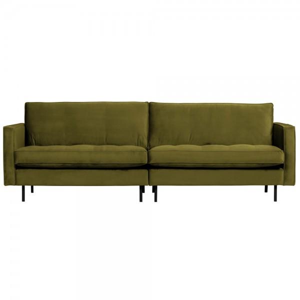 3 Sitzer Sofa Rodeo Samt Velvet olive Couch Garnitur Couchgarnitur