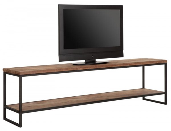 DTP HOME TV-Board 180 cm BEAM Teak Holz Metall Konsole TV-Rack TV-Möbel