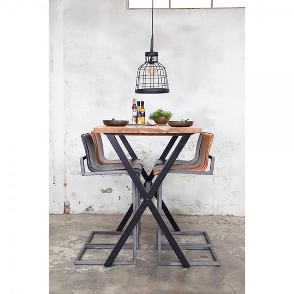 Industrie Bartisch WIGGE 140 x 80 cm H 110 cm Akazien Holz