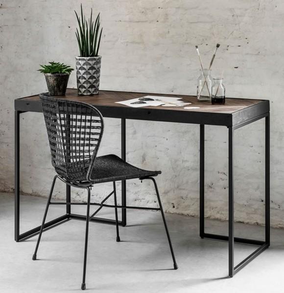 DTP Home Schreibtisch Criss Cross 125 x 50 cm Metall Massivholz