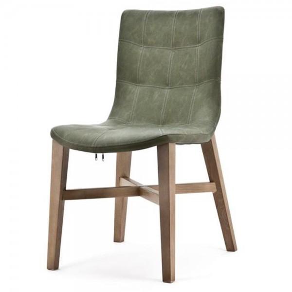 Design Stuhl NEBA grün Polsterstuhl