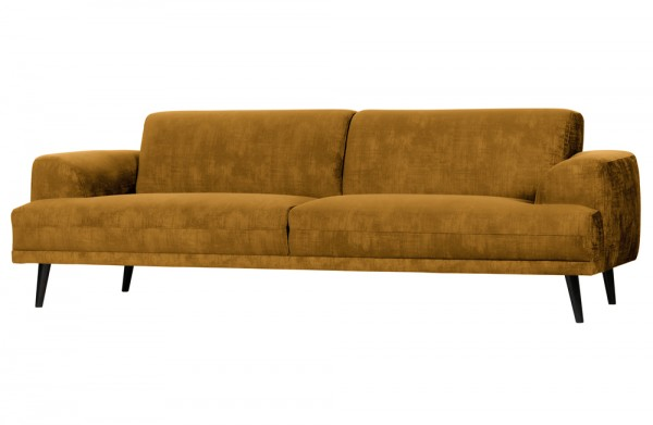 Sofa BRUSH 3-Sitzer Samt 243 cm ocker Couch vtwonen