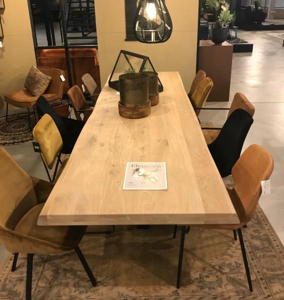 Esstisch Baumkante 240 x 100 massive Eiche Holztisch