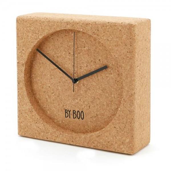 Kork Uhr CLOCK CORK 30 x 30 cm Tischuhr Batterie Kaminuhr Schreibtischuhr