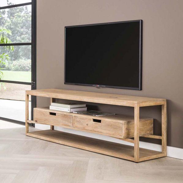 TV Möbel Sonora 140 cm Lowboard Mango Holz sandfarben