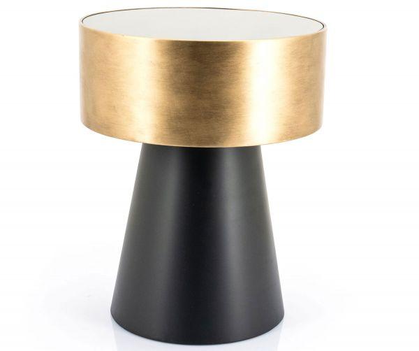 Couchtisch Bunga Ø 40 cm Metall bronze schwarz rund
