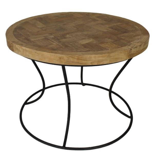 Teak Beistelltisch Couchtisch COFFE TABLE Ø 60 cm Kaffeetisch Anstelltisch Tisch