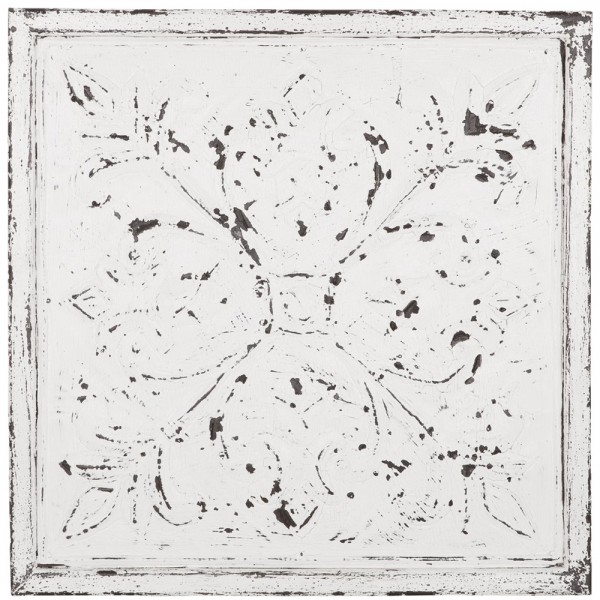 Deko Wandpaneele Chambord 67 X 67 Cm Holz Vintage Weiss Muster