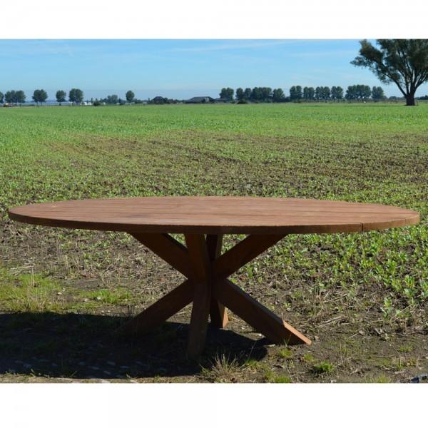 Gartentisch Beek Oval 240 x 110 cm Teakholz Esszimmertisch Holztisch Teak