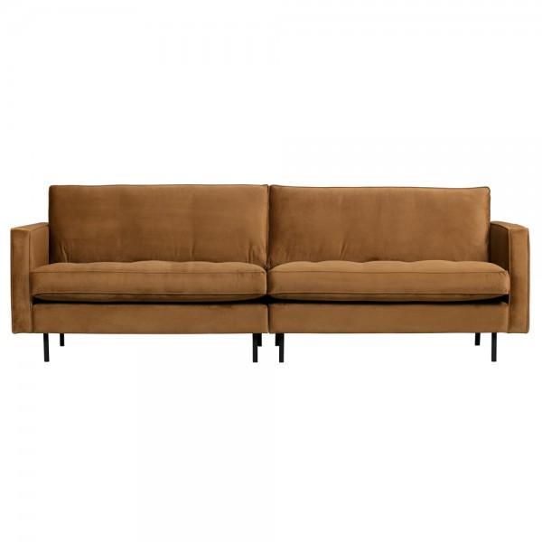 3 Sitzer Sofa Rodeo Samt Velvet honiggelb Couch Garnitur Couchgarnitur