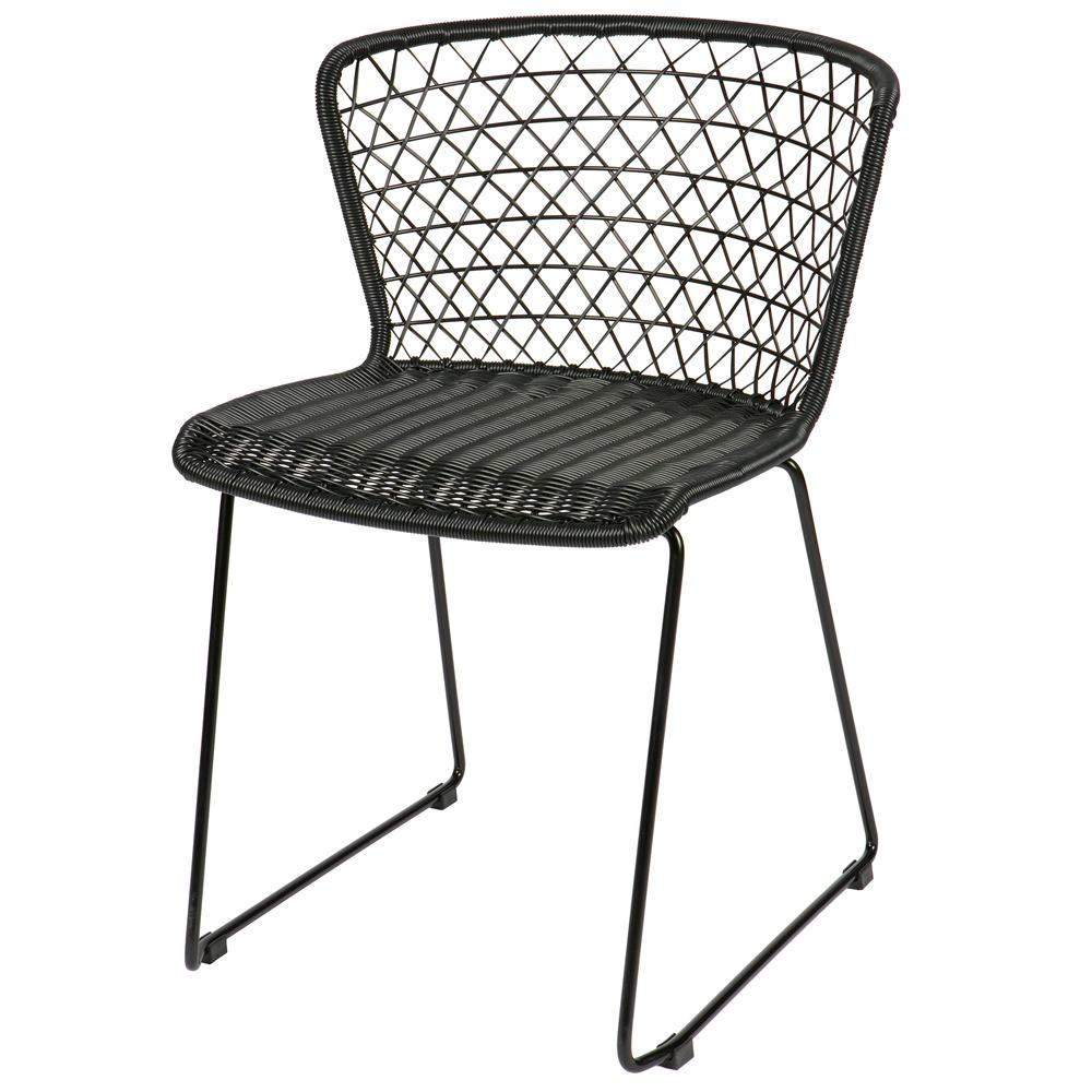 2er Stuhl … Schwarz Quadro Küchenstuhl Kunstrattan Set Esszimmerstuhl Esszimmer RAq3j54L