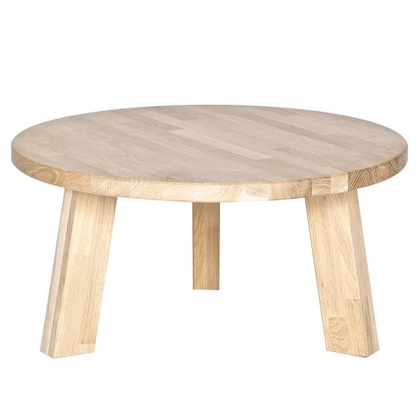 Beistelltisch RHONDA Ø 50 cm Anstelltisch Couchtisch Tisch Sofatisch Eiche natur