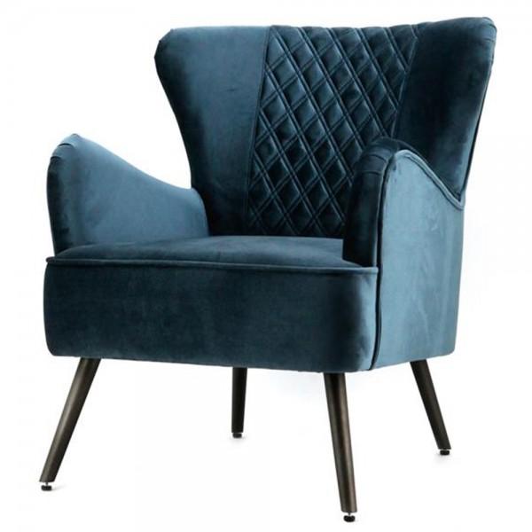 Vintage Sessel Polstersessel Daisy Ii Blau Loungesessel Clubsessel