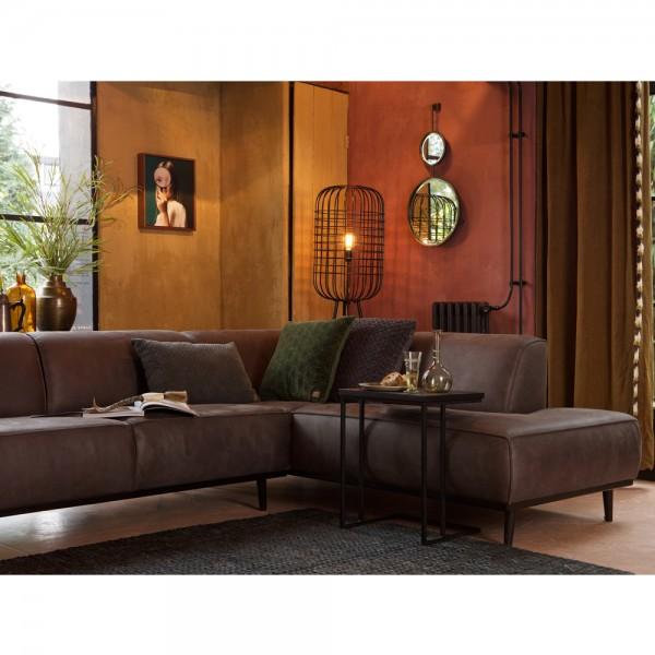 Eckgarnitur Statement Eco Leder Grau Couch Sofa Ecksofa Ledercouch