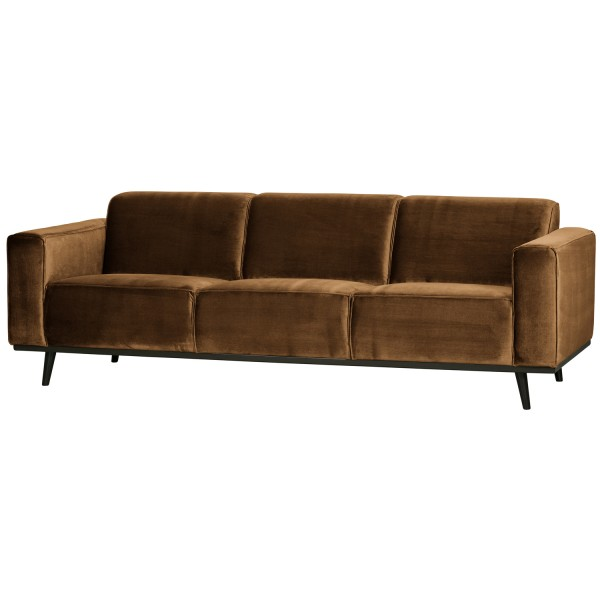 BePureHome 3 Sitzer Sofa STATEMENT Samt honiggelb Couch Garnitur Couchgarnitur