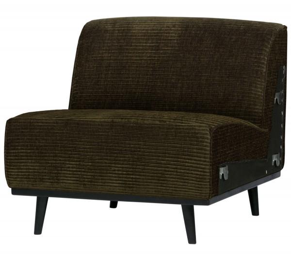 BePureHome Erweiterungselement 79 cm für 4 Sitzer Sofa Statement Rib Cord warmgrün