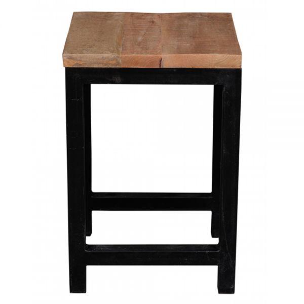 Couchtisch MALIN 40 x 40 cm Massivholz Metall Sofatisch Tisch Beistelltisch