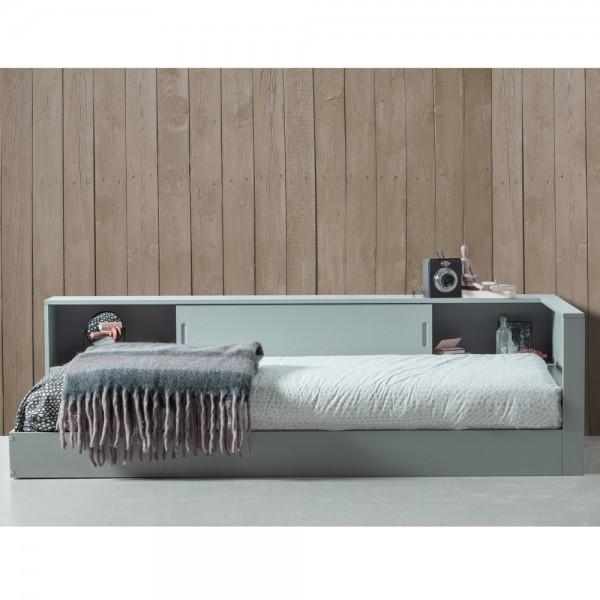 Eckbett Connect Bett 213 x 118 cm Kiefer grau