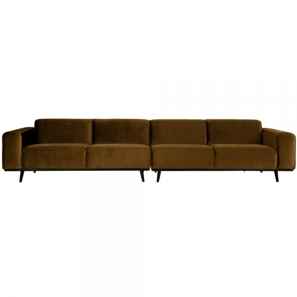 4 Sitzer Sofa STATEMENT XL Samt honiggelb Couch Garnitur Couchgarnitur