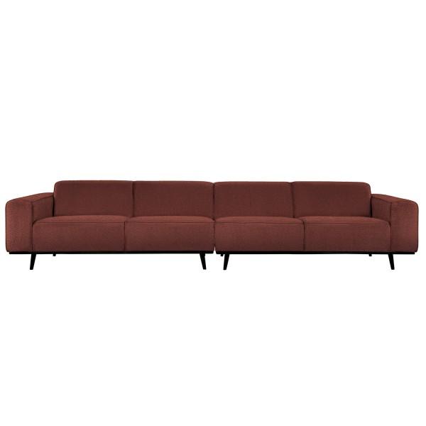 4 Sitzer Sofa STATEMENT XL Bouclé Kastanie Couch Garnitur Couchgarnitur