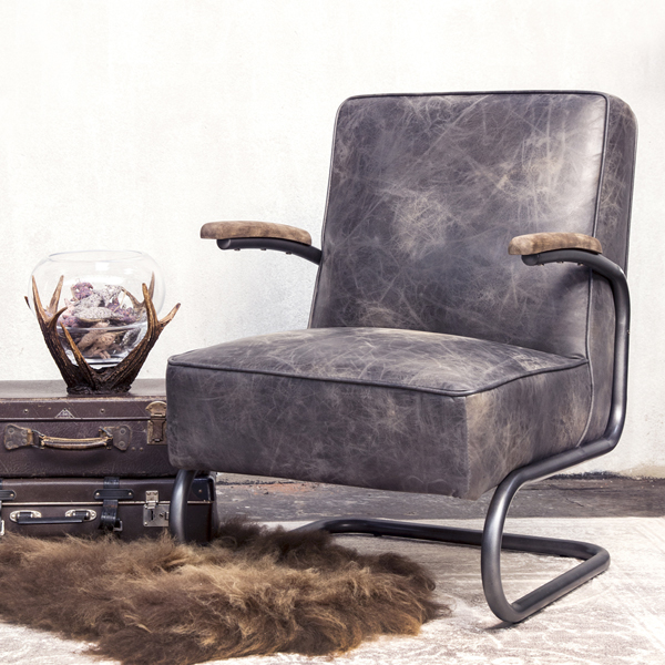 vintage sessel highland echtleder esszimmer wohnzimmer lounge chair ledersessel new maison. Black Bedroom Furniture Sets. Home Design Ideas