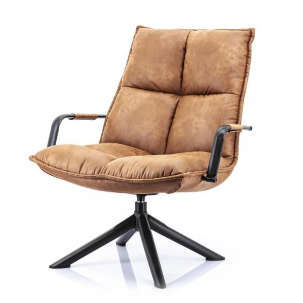 Lounge Chair drehbar Sessel Armlehnsessel Mitchell cognac Fernsehsessel