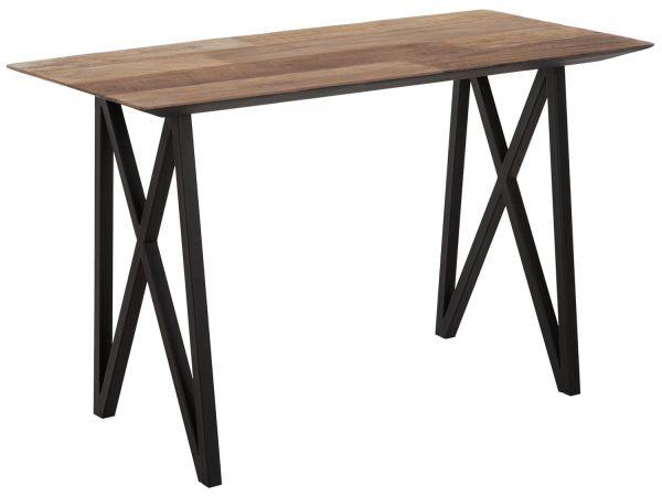 DTP Home Schreibtisch 160 x 60 cm Teakholz massiv Metall