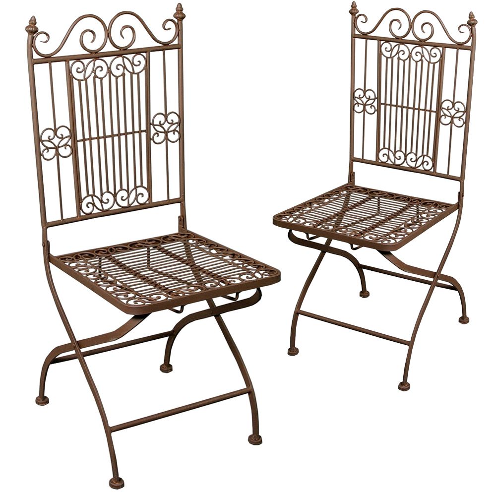 2er set eisenstuhl klappstuhl gartenstuhl balkonstuhl garten stuhl klappbar new maison esto. Black Bedroom Furniture Sets. Home Design Ideas