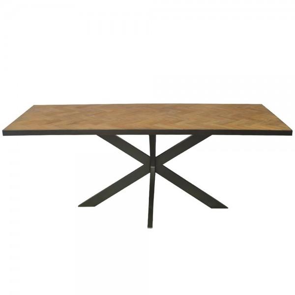 Esstisch Accent 200 x 90 cm Teakholz Dinnertisch Tisch Esszimmertisch