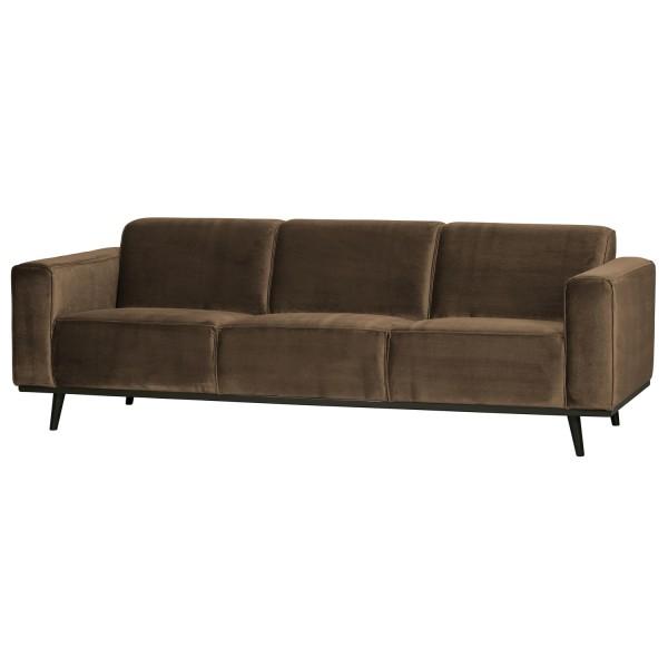BePureHome 3 Sitzer Sofa STATEMENT Samt taupe Couch Garnitur Couchgarnitur