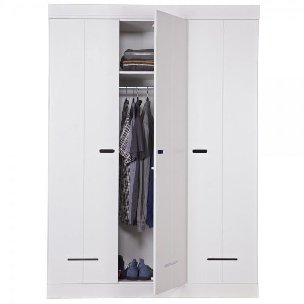 Kleiderschrank System LOCK 3 Türen Kiefer weiß