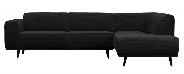 BePureHome Ecksofa Statement Rib Cord graphite Chaiselongue rechts