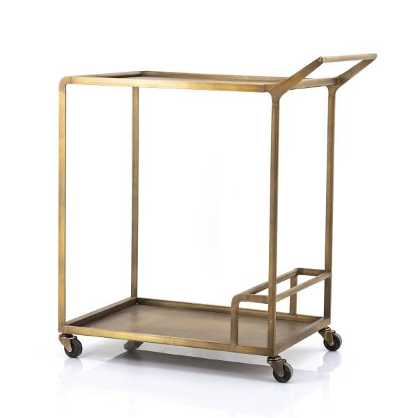 Servierwagen A0RAJN Metall bronze Rollenwagen Teewagen Küchenwagen Küchentrolley