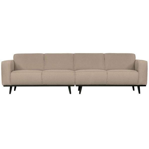 4 Sitzer Sofa STATEMENT Bouclé beige Couch Garnitur Couchgarnitur