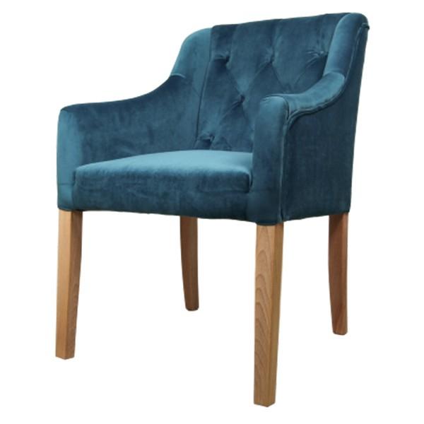 Stuhl Jersey Samt ozeanblau Velvet Vierfußstuhl Esszimmerstuhl Armlehnstuhl Esstischstuhl