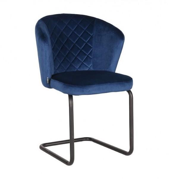 Esszimmer Schwingstuhl FLOW Samt blau Stuhl