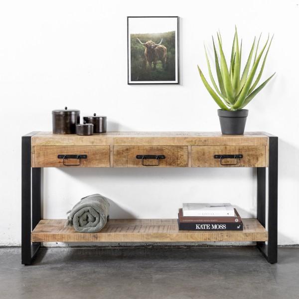 Giga Kommode Sideboard Chez 140 cm Holz Metall