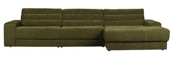 BePureHome Ecksofa Date vintage grün Chaiselongue rechts