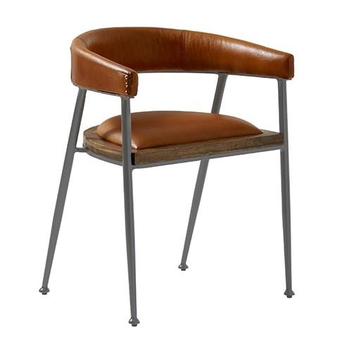 Design Leder Stuhl LONDON Essziimmerstuhl Konferenzstuhl Vintage Look congac
